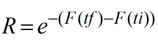 ecuacion de confiabilidad
